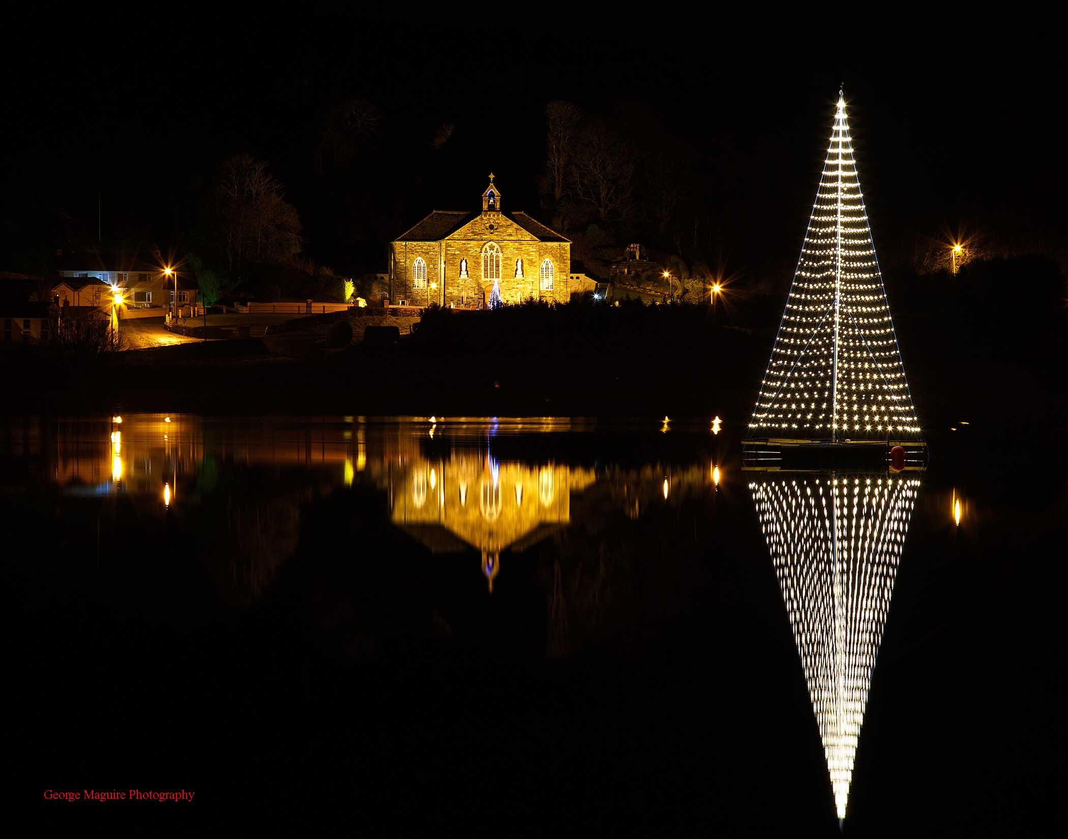 Ireland's largest floating Christmas Tree
